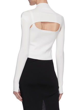 Back View - Click To Enlarge - DION LEE - Hoisery stirrup front hybrid top
