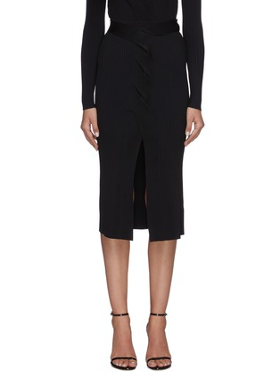 Main View - Click To Enlarge - DION LEE - Cable twist skirt