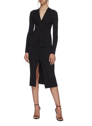 Figure View - Click To Enlarge - DION LEE - Cable twist skirt