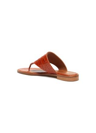- PARIS TEXAS - Croc embossed flat thong sandals