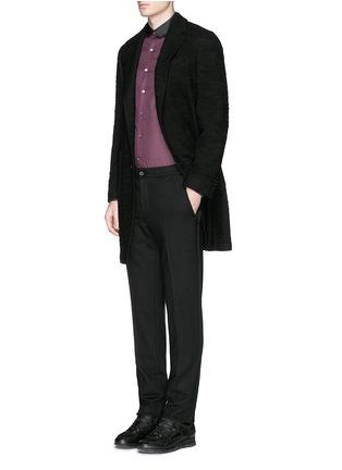 Figure View - Click To Enlarge - Lanvin - Grosgrain collar cotton poplin shirt