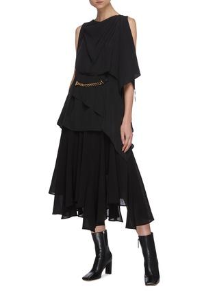 Figure View - Click To Enlarge - JW ANDERSON - 'Godet' asymmetric ruffle hem skirt