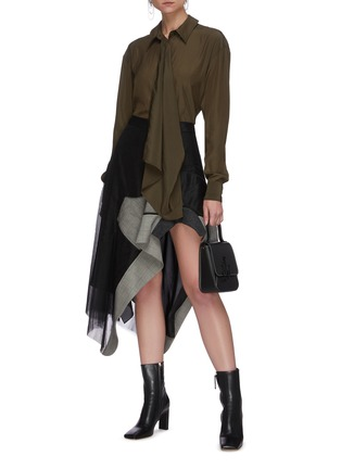 Figure View - Click To Enlarge - JW ANDERSON - Drape front blouse