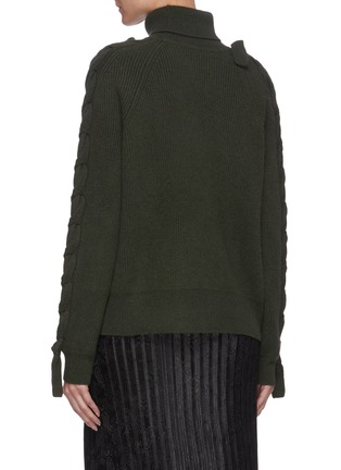 Back View - Click To Enlarge - JW ANDERSON - Cable detail turtleneck sweater