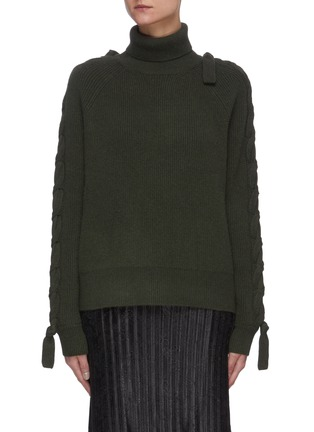 Main View - Click To Enlarge - JW ANDERSON - Cable detail turtleneck sweater