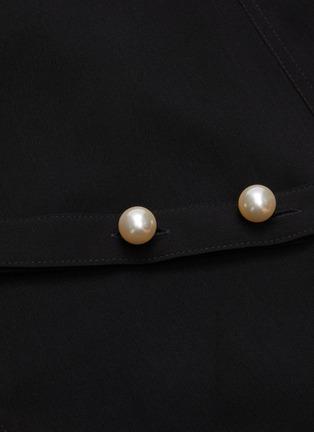 - JW ANDERSON - 'Godet' belted flare hem long sleeve dress