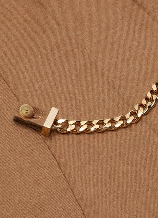 - JW ANDERSON - Chain belt sleeveless dress