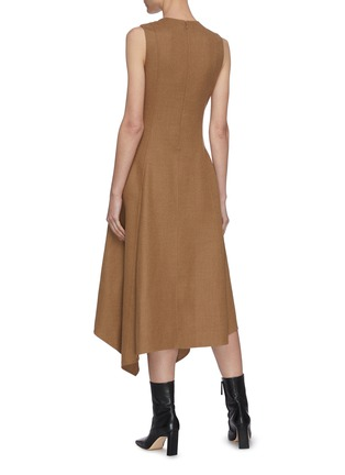 Back View - Click To Enlarge - JW ANDERSON - Chain belt sleeveless dress