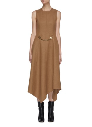 Main View - Click To Enlarge - JW ANDERSON - Chain belt sleeveless dress