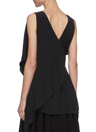 Back View - Click To Enlarge - JW ANDERSON - Chain belt drape sleeveless top