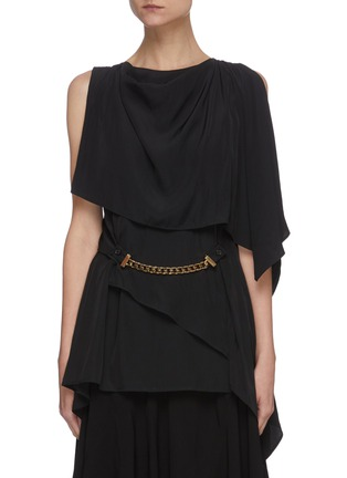 Main View - Click To Enlarge - JW ANDERSON - Chain belt drape sleeveless top