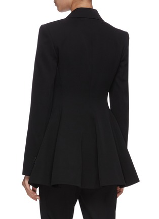 Back View - Click To Enlarge - JW ANDERSON - Peplum pearl button tuxedo jacket