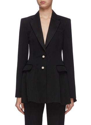 Main View - Click To Enlarge - JW ANDERSON - Peplum pearl button tuxedo jacket
