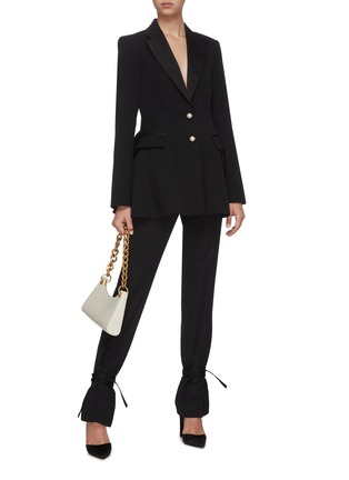 Figure View - Click To Enlarge - JW ANDERSON - Peplum pearl button tuxedo jacket