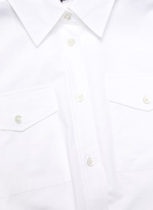 Detail View - Click To Enlarge - JW ANDERSON - Chain belt asymmetric handkerchief hem shirt dress