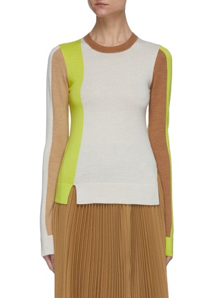 Main View - Click To Enlarge - JW ANDERSON - Colourblock crewneck knit top