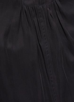 - JW ANDERSON - Chain belt cape sleeve asymmetric hem dress