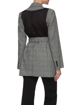 Back View - Click To Enlarge - JW ANDERSON - Belted back panel check blazer