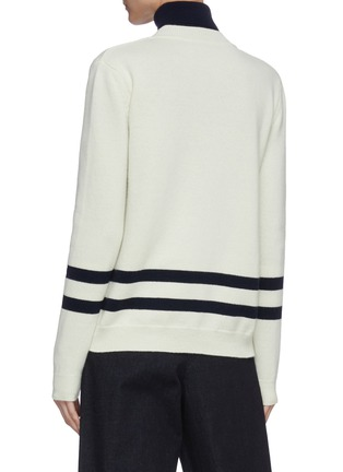 Back View - Click To Enlarge - JW ANDERSON - Two way trompe loeuil sweater