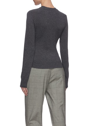 Back View - Click To Enlarge - JW ANDERSON - Tie front knit top