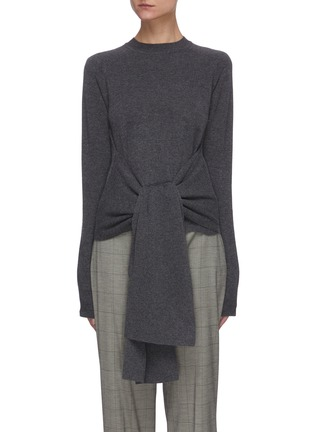 Main View - Click To Enlarge - JW ANDERSON - Tie front knit top