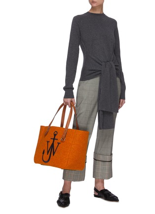 Figure View - Click To Enlarge - JW ANDERSON - Tie front knit top
