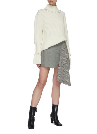 Figure View - Click To Enlarge - JW ANDERSON - Pearl embellished turtleneck sweater