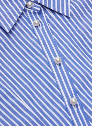 - JW ANDERSON - 'Godet' stripe cinch shirt