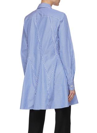 Back View - Click To Enlarge - JW ANDERSON - 'Godet' stripe cinch shirt