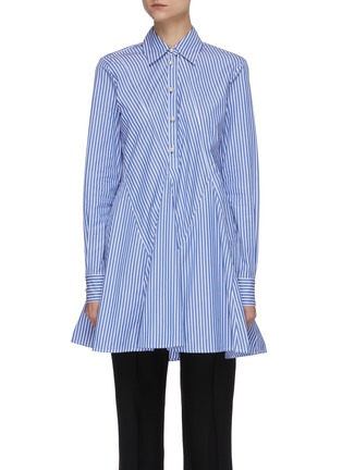 Main View - Click To Enlarge - JW ANDERSON - 'Godet' stripe cinch shirt