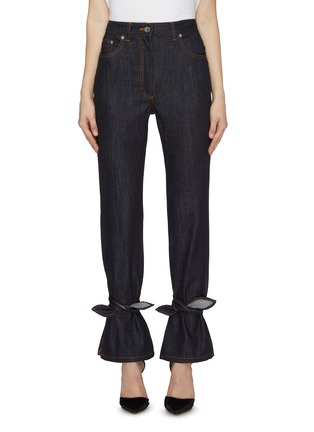 Main View - Click To Enlarge - JW ANDERSON - Tied hem jeans