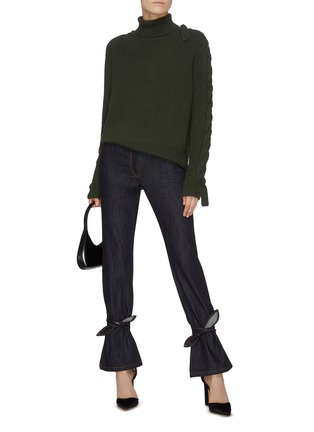 Figure View - Click To Enlarge - JW ANDERSON - Tied hem jeans