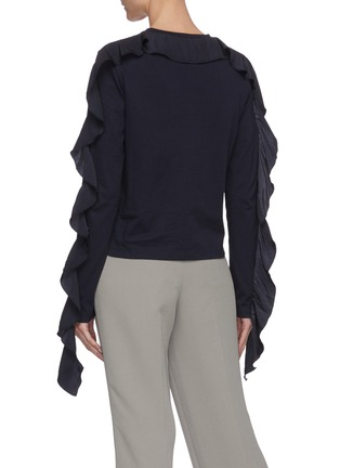 Back View - Click To Enlarge - JW ANDERSON - Ruffle sleeve top