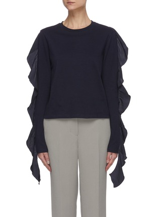 Main View - Click To Enlarge - JW ANDERSON - Ruffle sleeve top