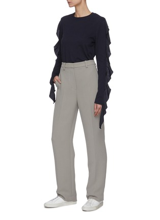 Figure View - Click To Enlarge - JW ANDERSON - Ruffle sleeve top