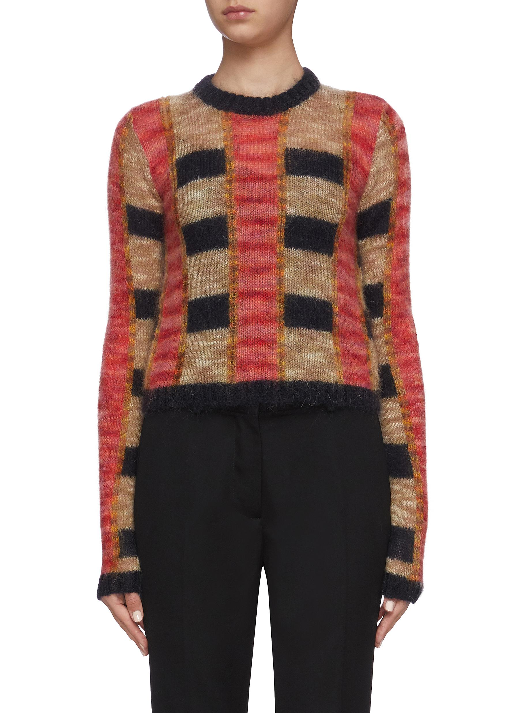 Jw Anderson Knits SLIM FIT CROPPED SWEATER