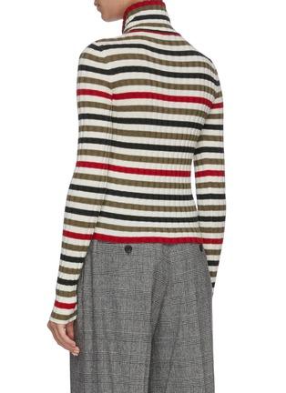Back View - Click To Enlarge - JW ANDERSON - Half zip turtleneck sweater