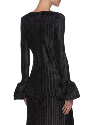 Back View - Click To Enlarge - JW ANDERSON - Bell sleeve texture top