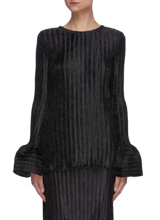 Main View - Click To Enlarge - JW ANDERSON - Bell sleeve texture top