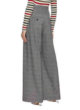 Back View - Click To Enlarge - JW ANDERSON - Checked wide leg tailored pants