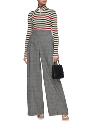 Figure View - Click To Enlarge - JW ANDERSON - Checked wide leg tailored pants