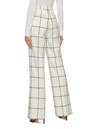 Back View - Click To Enlarge - GABRIELA HEARST - 'Leda' Windowpane check suiting pants