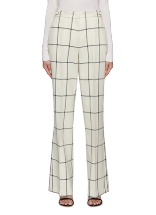Main View - Click To Enlarge - GABRIELA HEARST - 'Leda' Windowpane check suiting pants