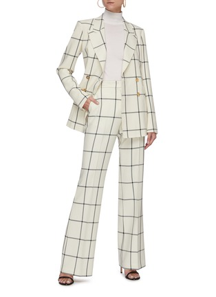 Figure View - Click To Enlarge - GABRIELA HEARST - 'Leda' Windowpane check suiting pants