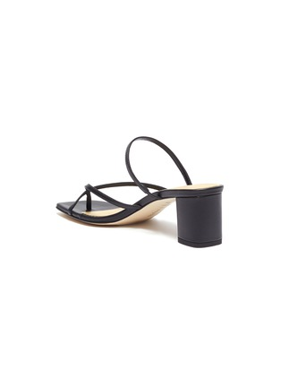 - AEYDE - 'Larissa' asymmetric toe ring block heel leather sandals
