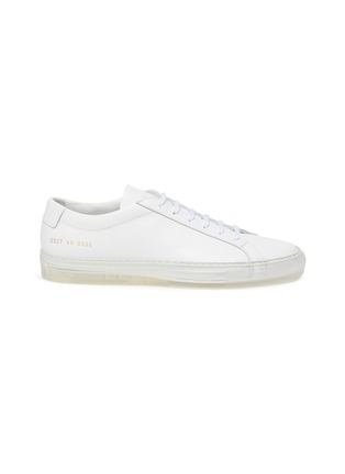 Main View - Click To Enlarge - COMMON PROJECTS - 'Original Achilles' clear sole low top lace up leather sneakers
