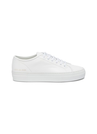 Main View - Click To Enlarge - COMMON PROJECTS - 'Tournament' low top platform leather sneakers