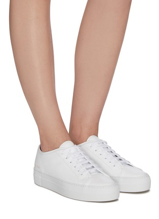 Figure View - Click To Enlarge - COMMON PROJECTS - 'Tournament' low top platform leather sneakers