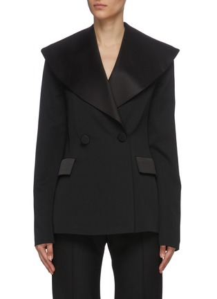 Main View - Click To Enlarge - JW ANDERSON - Oversize shawl lapel double breast tuxedo blazer