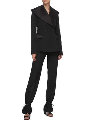 Figure View - Click To Enlarge - JW ANDERSON - Oversize shawl lapel double breast tuxedo blazer